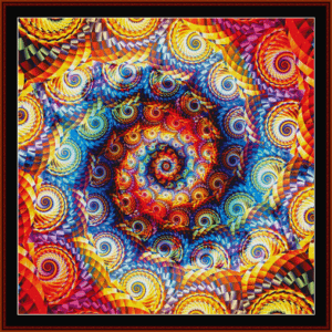 fractal 668 cross stitch pattern by cross stitch collectibles