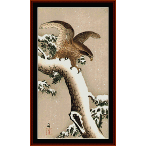 eagle - asian art cross stitch pattern by cross stitch collectibles