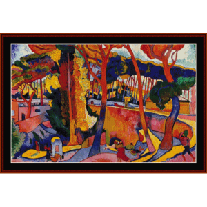 the turning road, l'estaque - derain cross stitch pattern by cross stitch collectibles