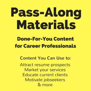 jobseeker's guide for the second half of life pass-along materials