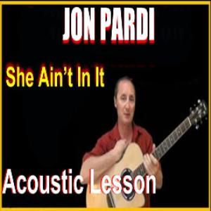 learn to play she ain't in it by jon pardi