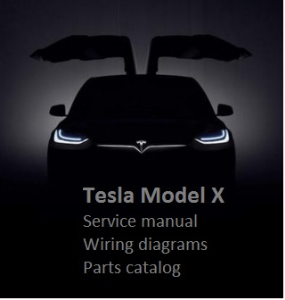 tesla model x service manual wiring diagrams parts catalog