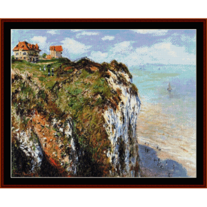 cliff at dieppe - monet cross stitch pattern by cross stitch collectibles