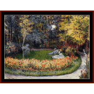 in the garden - monet cross stitch pattern by cross stitch collectibles