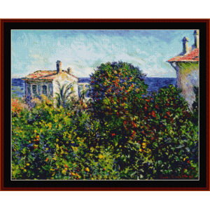 house of the gardner - monet cross stitch pattern by cross stitch collectibles