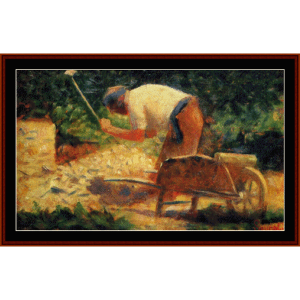 stone breaker, 1883 - seurat cross stitch pattern by cross stitch collectibles