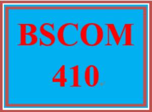 bscom 410 week 1 media matrix