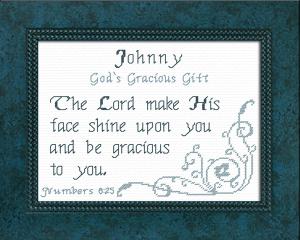 name blessings -  johnny