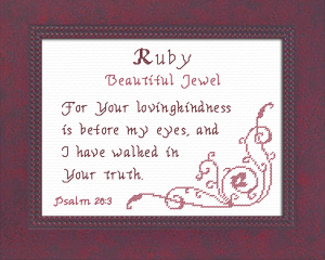 name blessings -  ruby