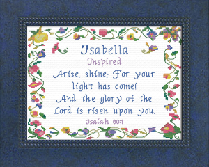 name blessings -  isabella 3