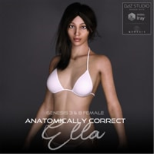 anatomically correct: ella for genesis 3 and genesis 8 female