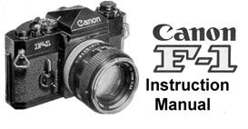 Canon F-1 Instruction Manual | Other Files | Photography and Images