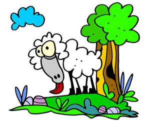 colored sheep illustration