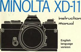 Minolta XD11 XD7 XD Instruction Manual & Illustrated User Guide | Other Files | Photography and Images