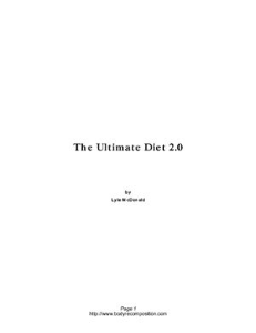 the ultimate diet 2.0: advanced cyclical dieting for achieving super leanness