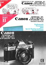 Canon AE-1 All Available Instruction Manuals | Other Files | Photography and Images