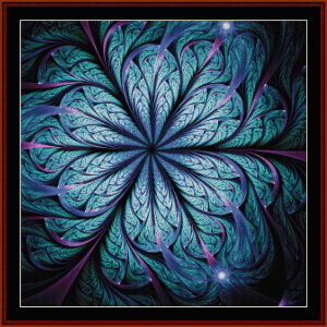 fractal 671 cross stitch pattern by cross stitch collectibles