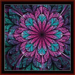 fractal 672 cross stitch pattern by cross stitch collectibles