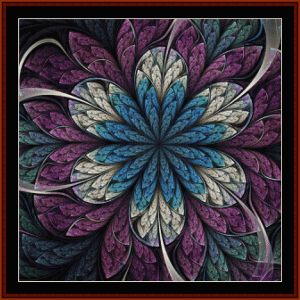 fractal 674 cross stitch pattern by cross stitch collectibles