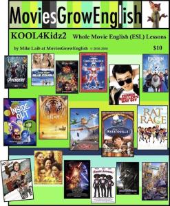 moviesgrowenglish kool 4 kidz - 2, esl textbook