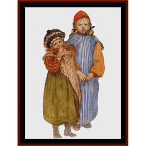 children of the carpenter - larsson cross stitch pattern by cross stitch collectibles