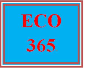 eco 365 week 4 team paper