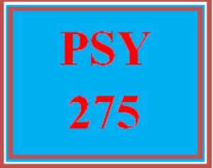 psy 275 week 5 clinical disorder presentation