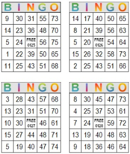 bingo multi card 125-128