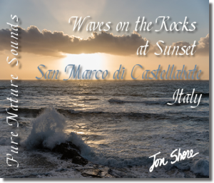 mediterranean waves on rocks at san marco di castellabate italy at sunset 60 minutes