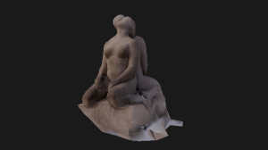3d view vigeland sculpture man and woman made in gneiss