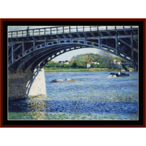 pont d'argenteuil - caillebotte cross stitch pattern by cross stitch collectibles