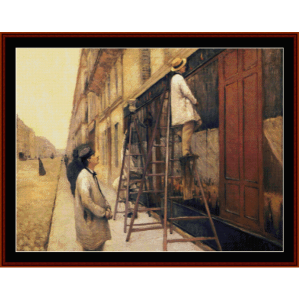 house painters, 1877 - caillebotte cross stitch pattern by cross stitch collectibles