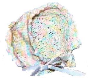 picot knit bonnet pattern