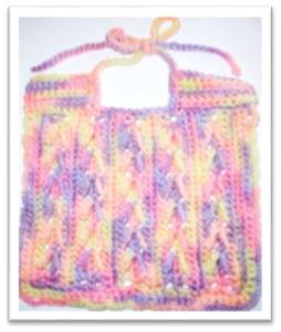arrow stitch bib pattern