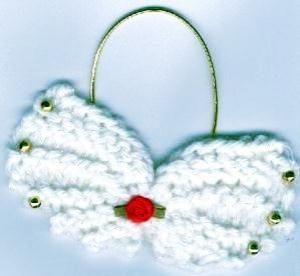 angel wings ornament knitting pattern