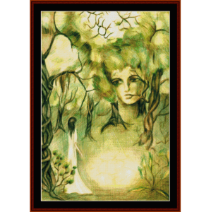 forest creature - fantasy cross stitch pattern by cross stitch collectibles