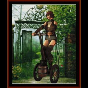 steampunk vehicle - fantasy cross stitch pattern by cross stitch collectibles