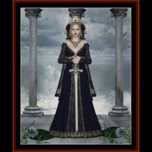 legend - fantasy cross stitch pattern by cross stitch collectibles