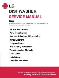lg d14131wf dishwasher service manual and troubleshooting guide
