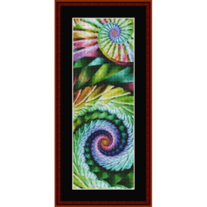fractal 655 bookmark by cross stitch collectibles.