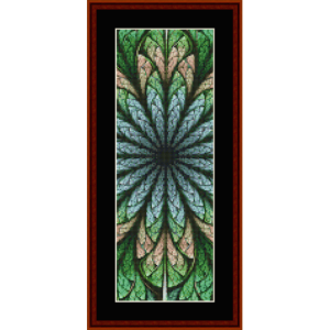 fractal 660 bookmark cross stitch pattern by by cross stitch collectibles