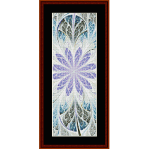 fractal 661 bookmark cross stitch pattern by by cross stitch collectibles