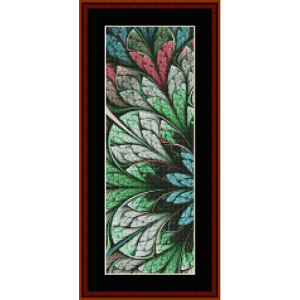 fractal 662 bookmark cross stitch pattern by by cross stitch collectibles