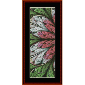 fractal 664 bookmark cross stitch pattern by by cross stitch collectibles
