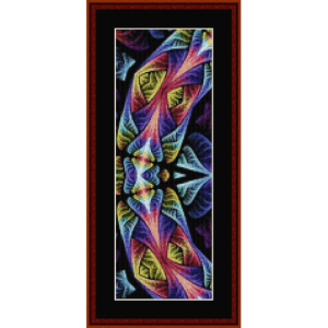fractal 665  bookmark cross stitch pattern by by cross stitch collectibles