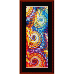 fractal 668 bookmark cross stitch pattern by by cross stitch collectibles