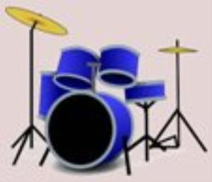 blue letter- -drum tab