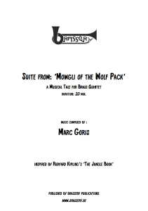 suite from: 'mowgli of the wolf pack'  for brass quintet
