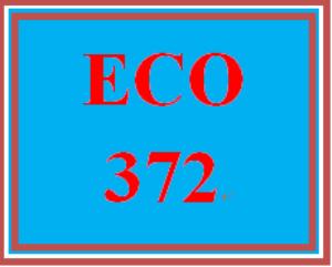 eco 372 week 5 course summary