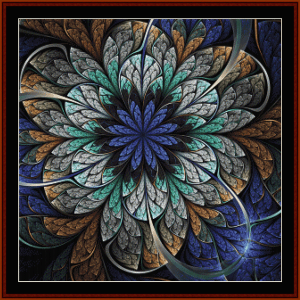 fractal 676 cross stitch pattern by cross stitch collectibles